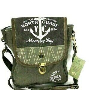 NWT Clea Ray Handbag Army Green Messenger Bag